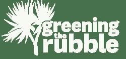 Greening the Rubble logo.